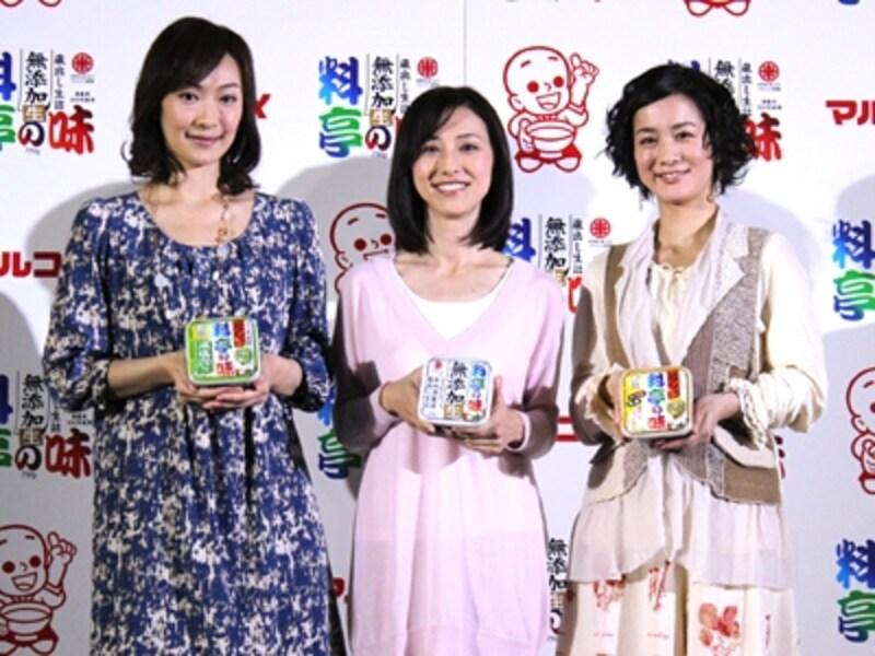 山崎直子さん、紺野まひるさん、納富有紗さん
