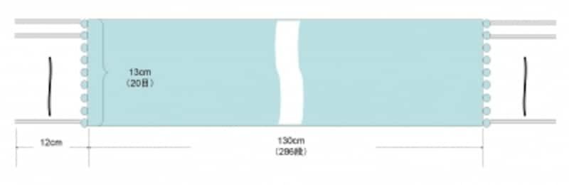 ミニ・ストールの編み図