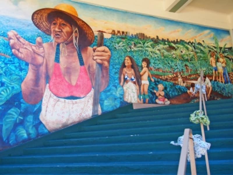 ハワイ大学マノア校のウォールアート