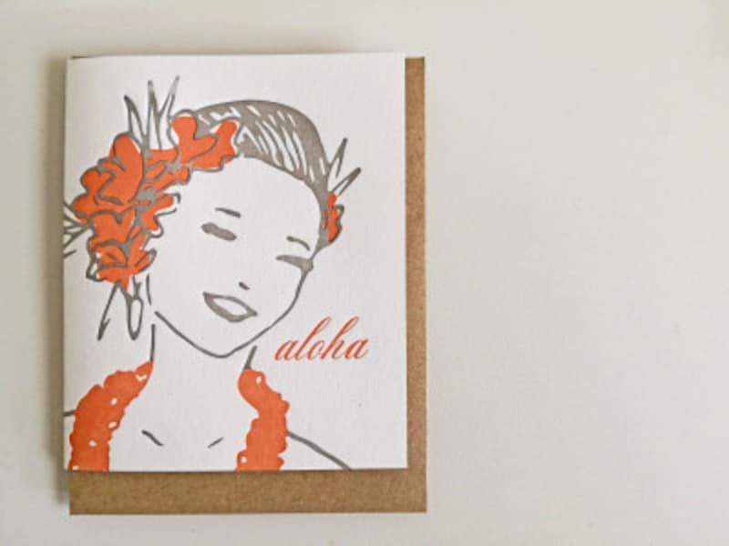 どこかレトロな雰囲気が漂う活版印刷のポストカード