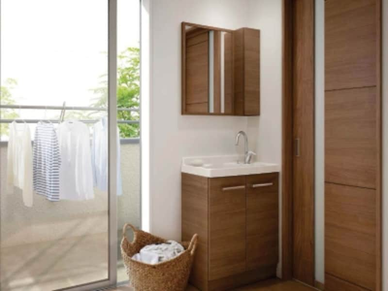 子供室や寝室、ベランダの近くに洗面台を設ければ、さまざまな使い方ができる。[リフラ]undefinedLIXILundefinedhttp://www.lixil.co.jp/