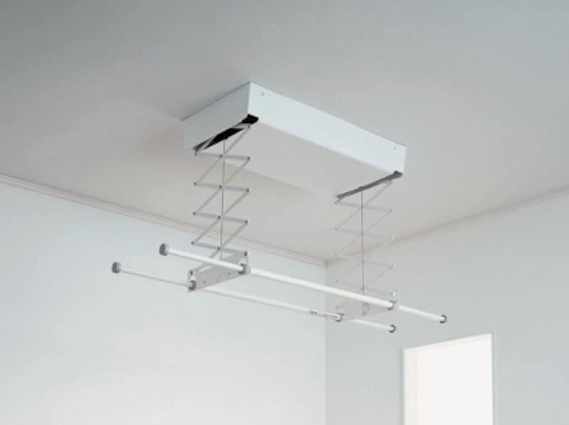 使用する時だけ、天井から電動で昇降させることができる物干しユニット。undefined[室内物干しユニットundefinedホシ姫サマ〈電動シリーズ〉]undefinedパナソニックエコソリューションズundefinedhttp://sumai.panasonic.jp/