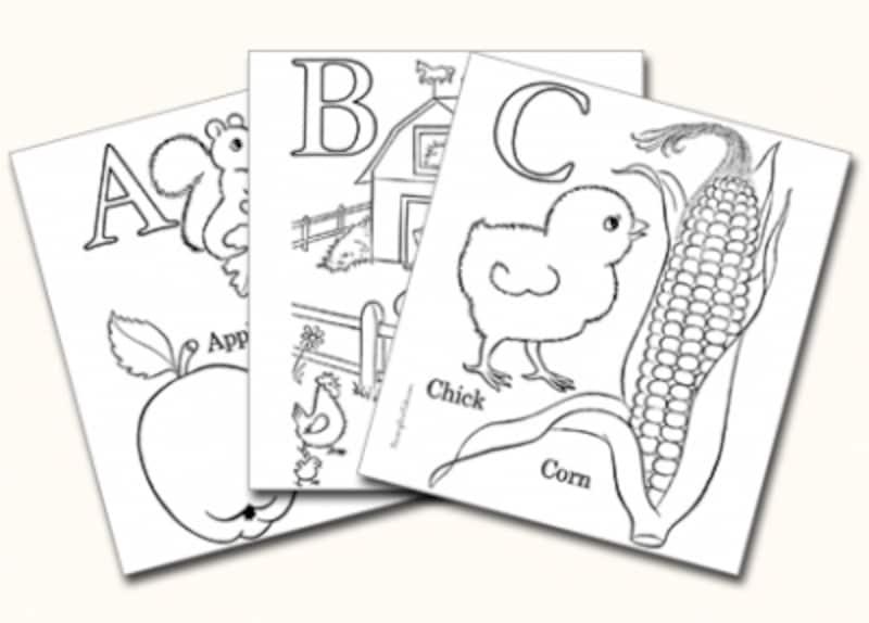 アルファベットのぬりえを無料ダウンロードしよう 子供の絵画お絵かき