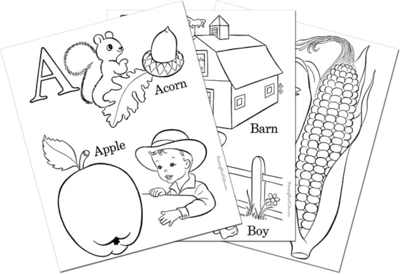 "アルファベット練習・アルファベット塗り絵 RaisingOurKids.com ""Alphabet coloring pages, sheets and pictures!"""