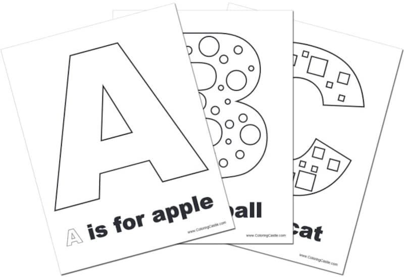 """アルファベット練習・アルファベット塗り絵ColoringCastle""""AlphabetColoringPages"""""""
