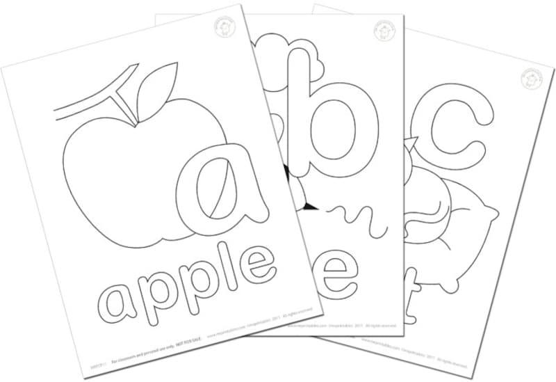 """アルファベット練習・アルファベット塗り絵MrPrintables""""AlphabetColoringPages"""""""