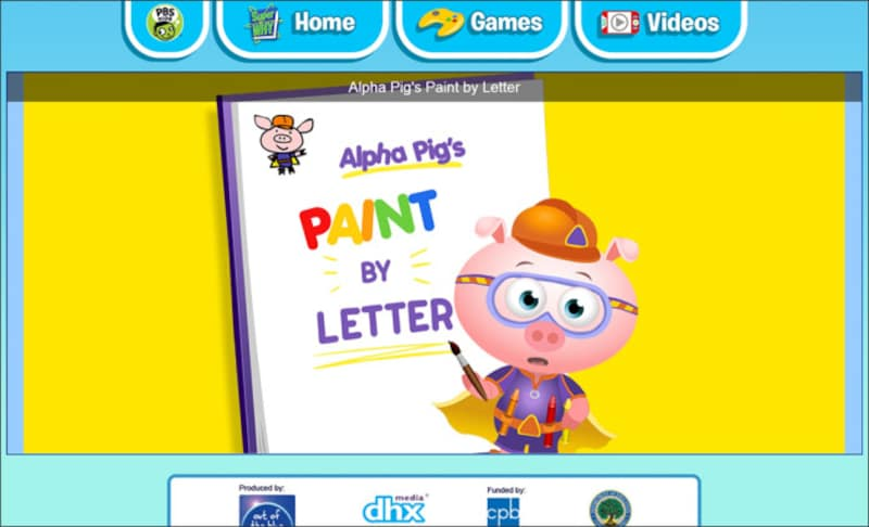 "アルファベットゲーム無料 SUPER WHY! ""Alpha Pig's PAINT BY LETTER"""