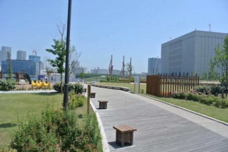 豊洲ふ頭近くの公園