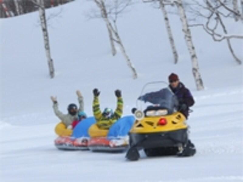 写真スキー場を楽しむ