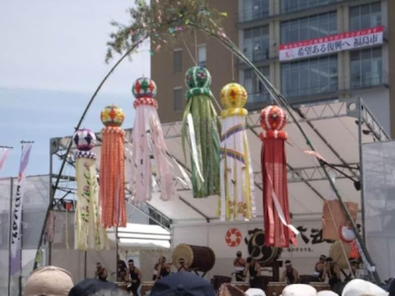 仙台七夕まつり(1)/豪華絢爛な笹飾り/東北六魂祭2013福島より