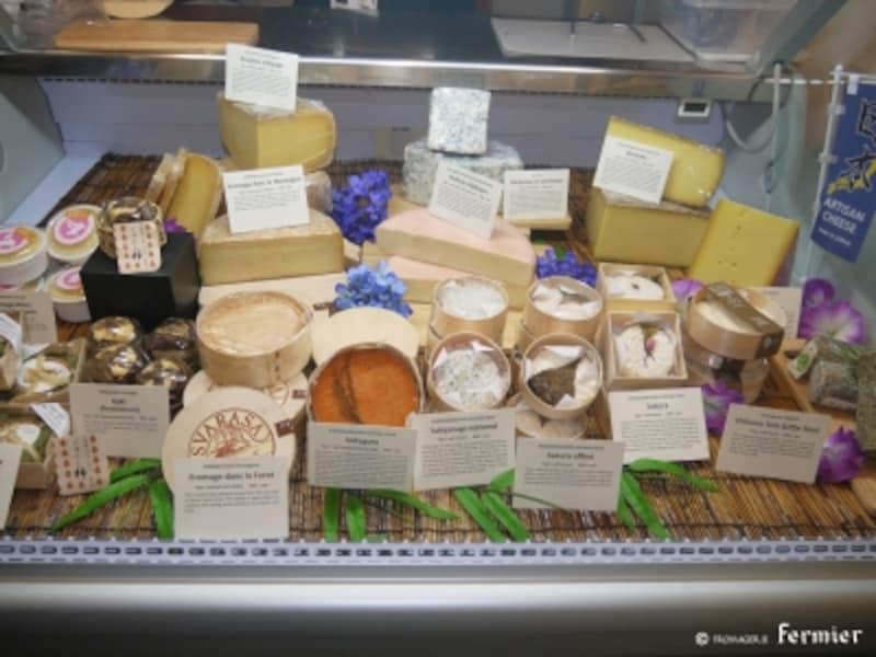日本から出展された数々のチーズたち