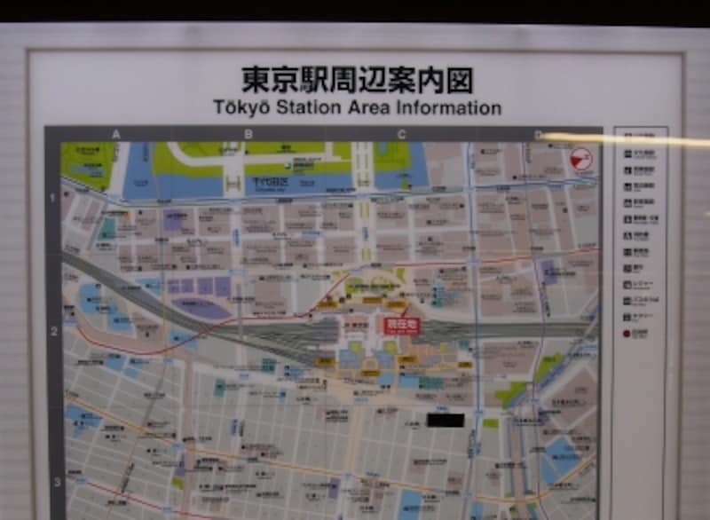 地下街では自分がどこにいるかわらなくなるので、地図で確認したい