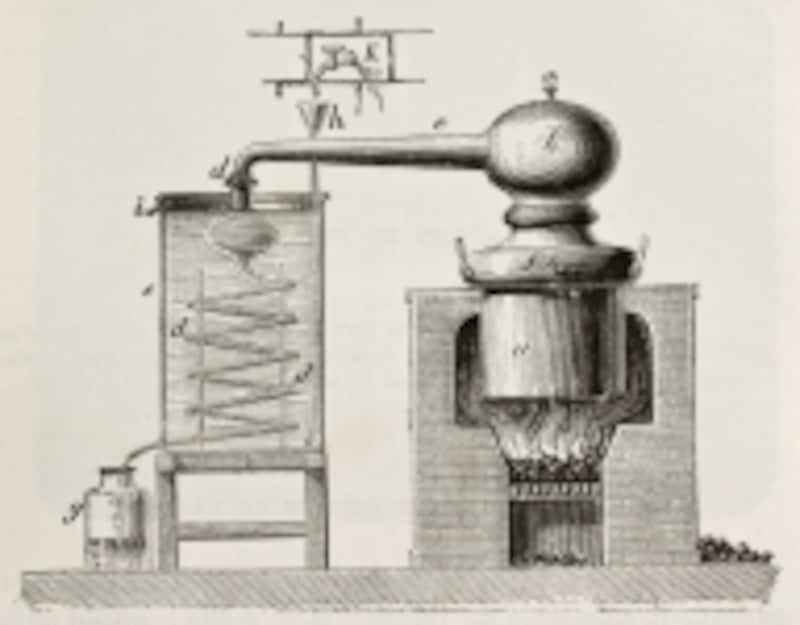 アラビアで開発された蒸留器が、やがて世界の食品革命を起こす元となりました。