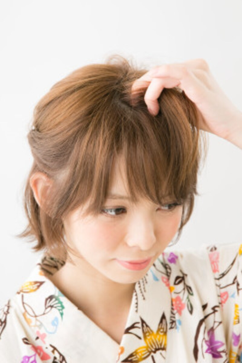 毛先や前髪にニュアンスをつけてラフに仕上げて