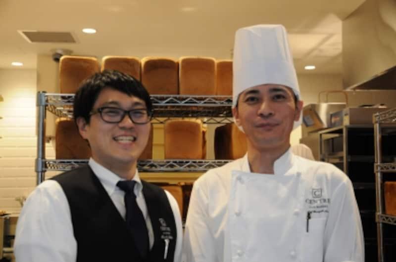 店長の高田淳さん(左)とベーカリーシェフの奈良晴之さん(右)