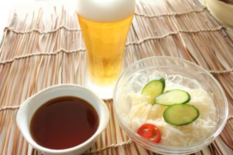 暑気払いに効く食べ物……麦(冷麦・そうめん・ビール)