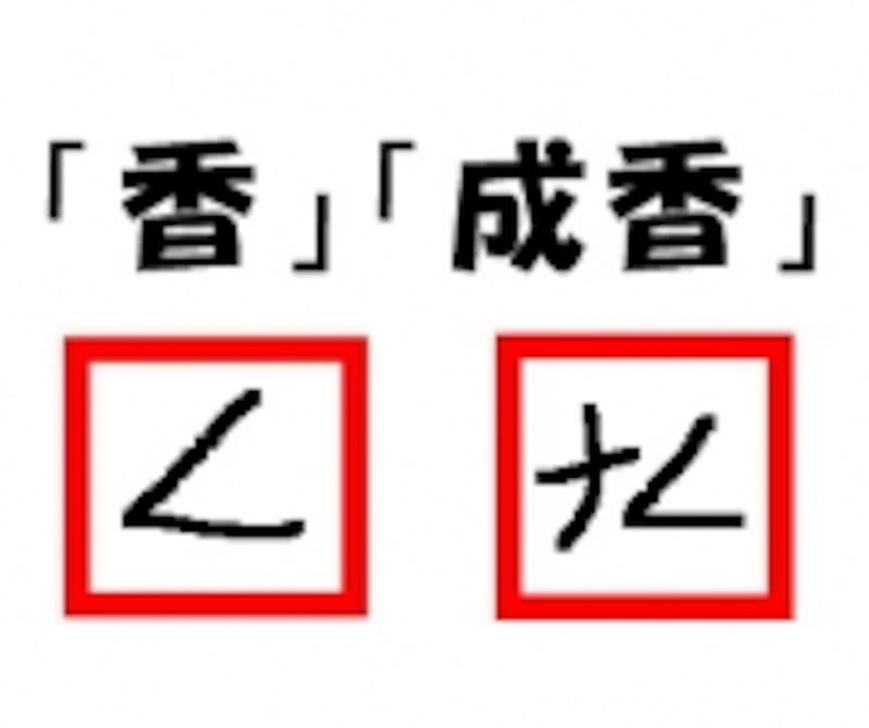 「香」は最初の2画を記号で表す