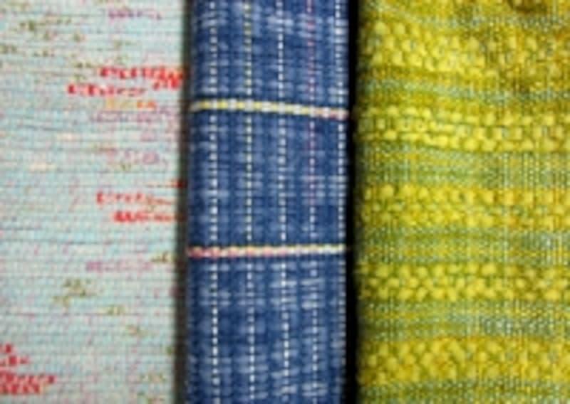 織り地を比較してみましょう
