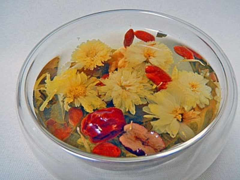 花畑のような美しい八宝茶