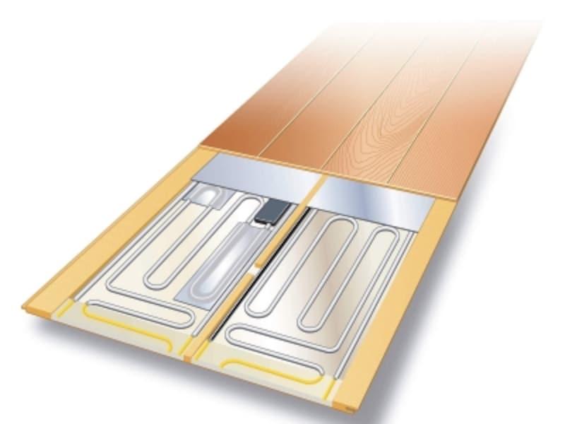 床暖房の施工イメージ