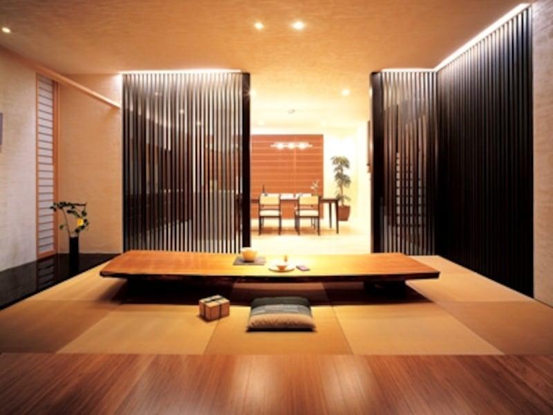 バンブー材を住まいに用ると、洗練、モダン、涼しげ・・などという言葉が似合う空間をつくることができます