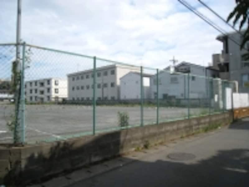 マンション建設予定地