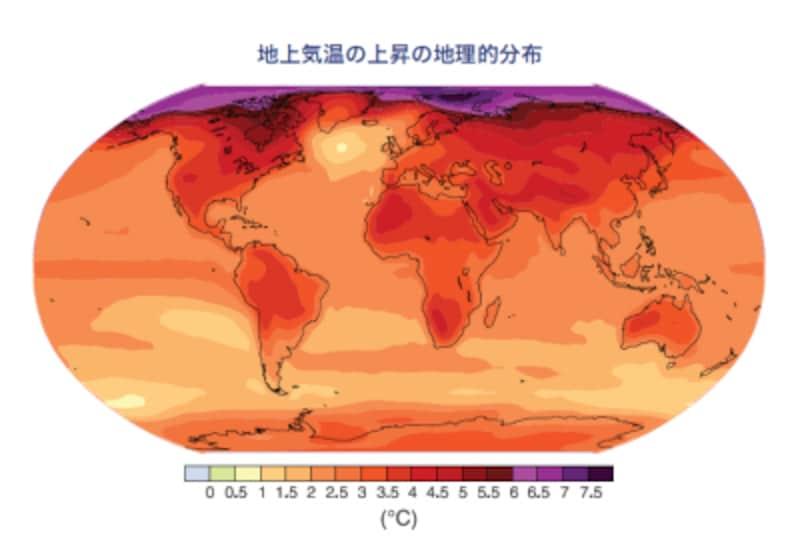 地上気温の変化の予測
