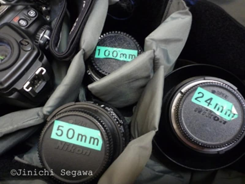 カメラバッグの使い方