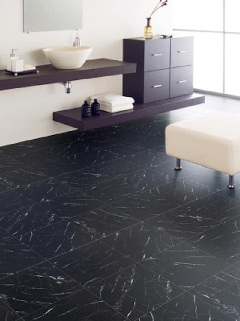 おしゃれな洗面所の床