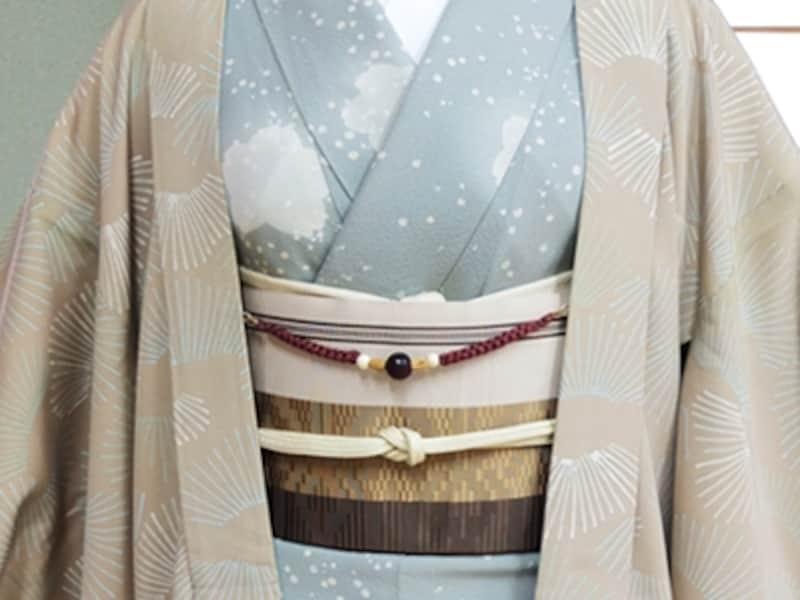 鐶で取り付けるタイプの羽織紐