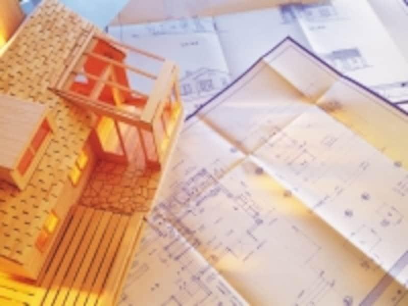 建築模型と図面
