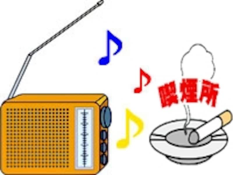 大音量でのラジオは住んでいる人だけでなく近所の人へも迷惑です。