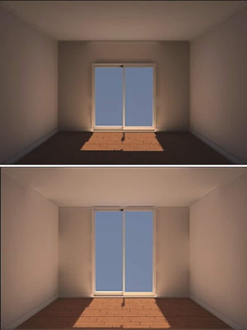 マンションの暗い窓