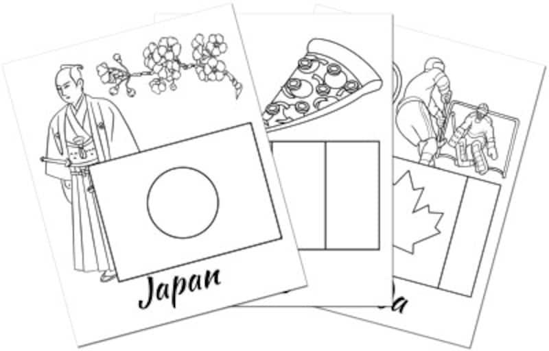 国旗 塗り絵 ぬりえ  TOPCOLORINGPAGESflags&countries