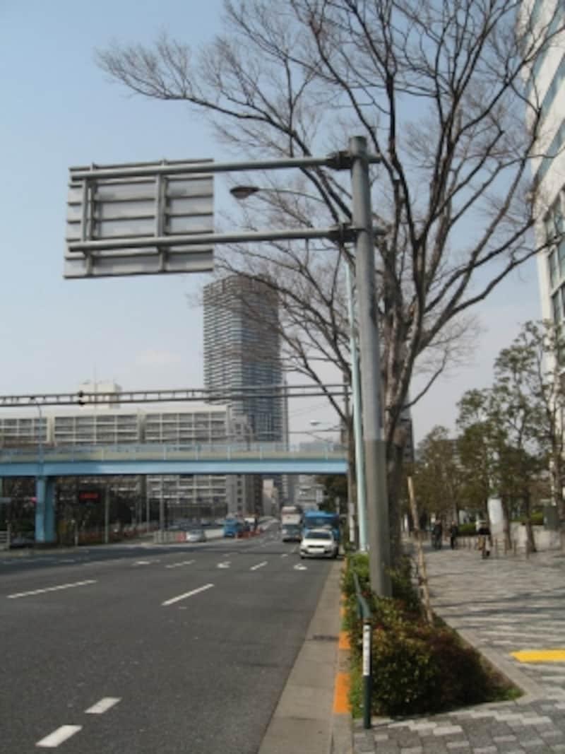 晴海タワーズ駅からの道