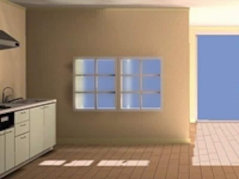 間仕切り壁に取り付ける室内窓に使えば、空間の繋がり方を自在に変えられる(OfficeYuu)