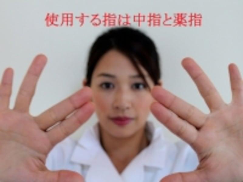 使う指は中指と薬指
