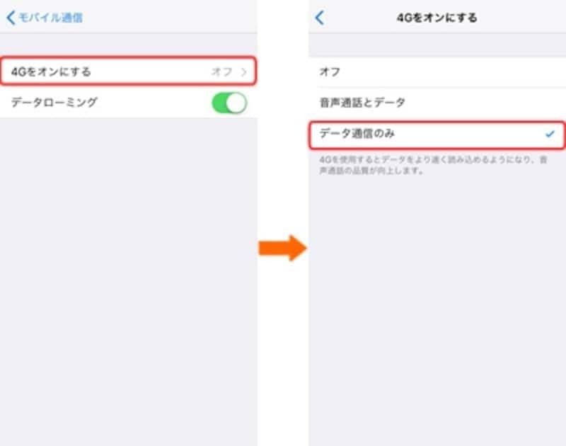 海外iPhone設定