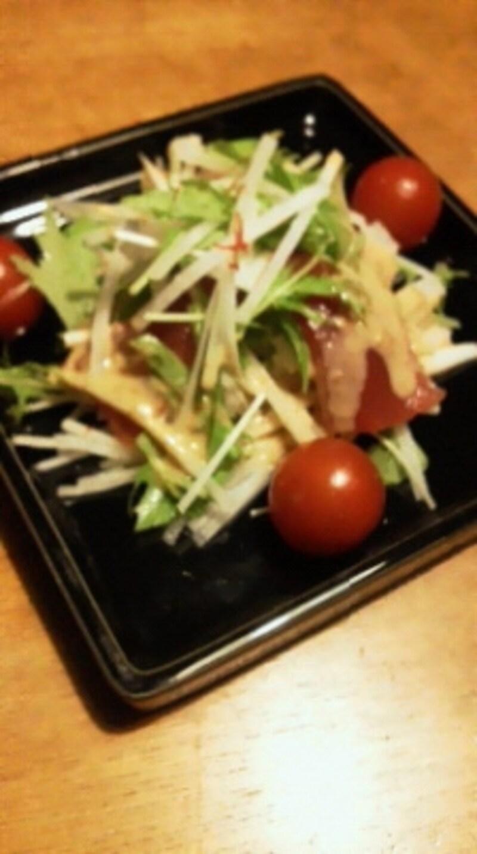 美登利寿司undefinedかつおのハリハリサラダを再現