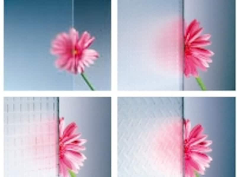 様々なバリエーションがあるフロストグラス(旭硝子)
