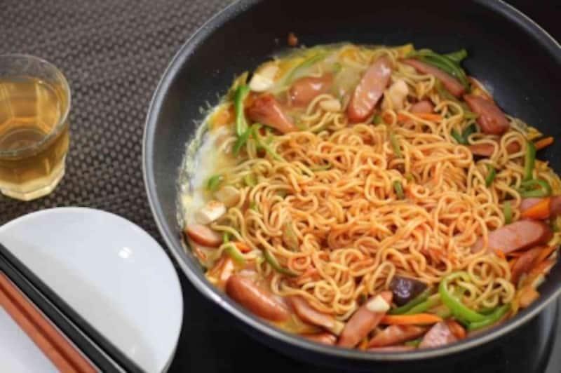 焼きそば麺で作る「イタリアン」undefined