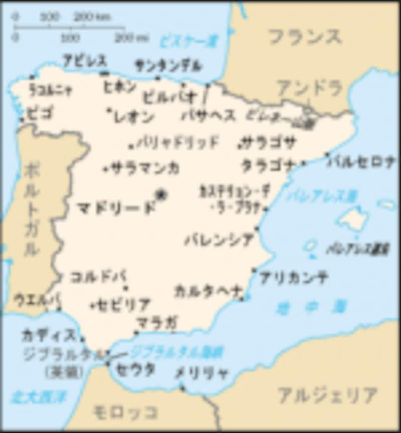 スペイン地図undefinedWikipediaより