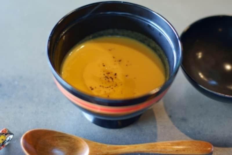 淡路産の人参を使ったスープ
