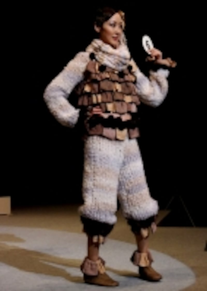 毛糸とタオルが組み合ったリメイク作品