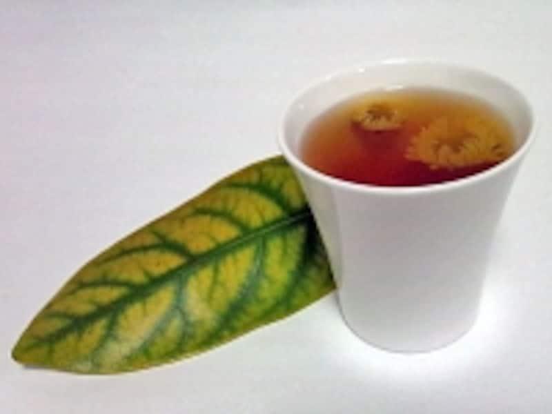 菊花プーアル茶
