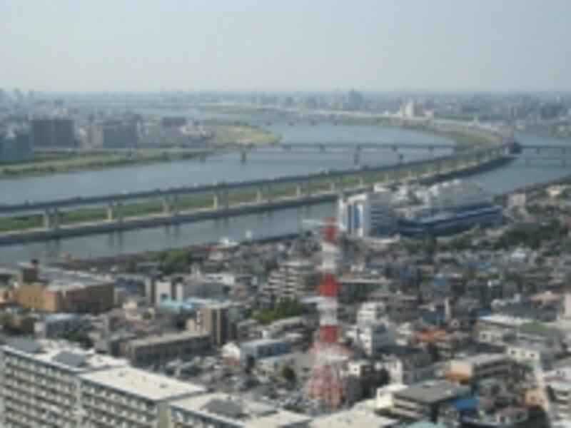 タワーホール船堀からの眺望