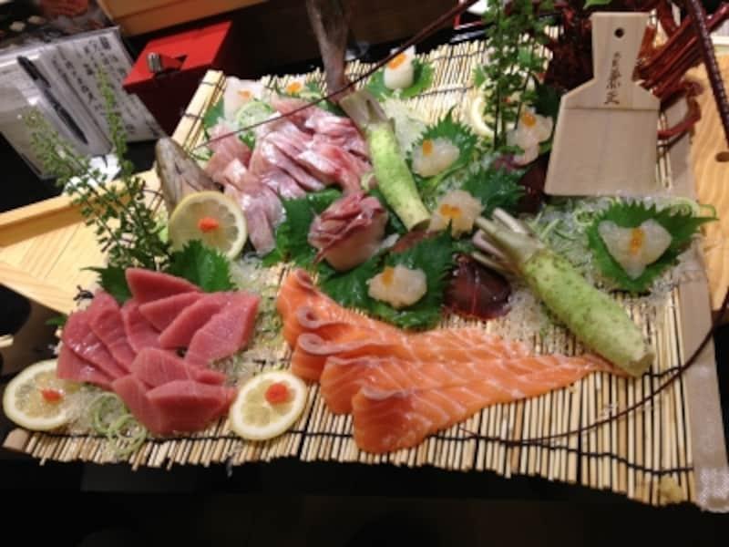 この刺し盛りが回転寿司店で!