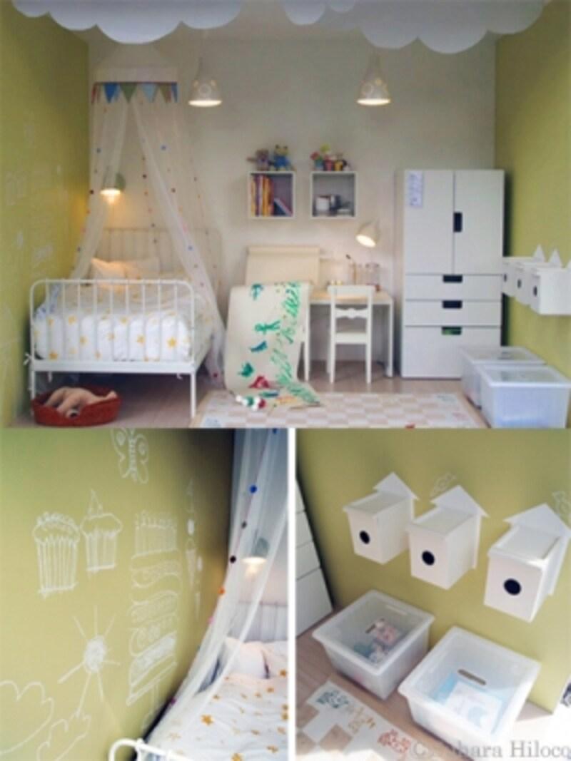 イケアの3畳子供部屋と収納家具