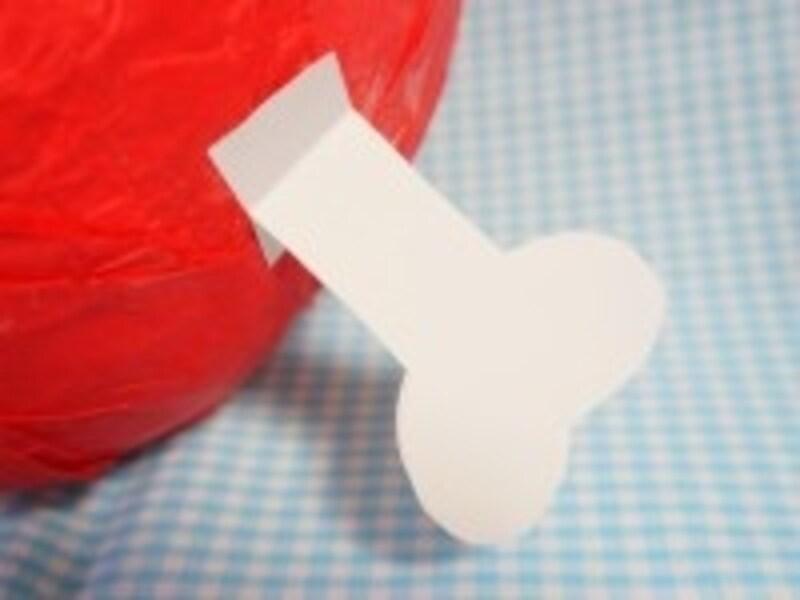 骨型に切った紙