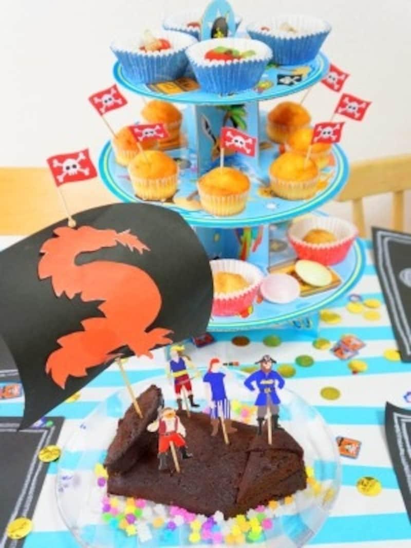 海賊船ケーキ